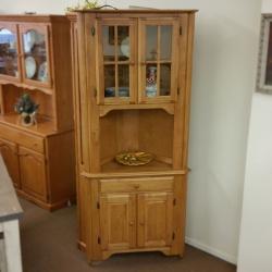 Solid Birch Corner Cabinet