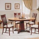 Pillar Base Round Dining Set
