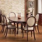 Oval Back Oval Dining Set