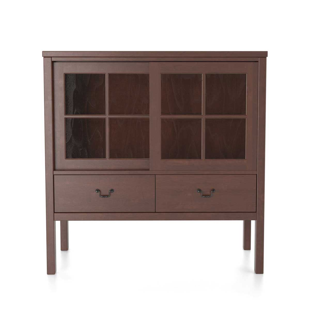 Sliding Door Display Cabinet Custom Dining Furniture