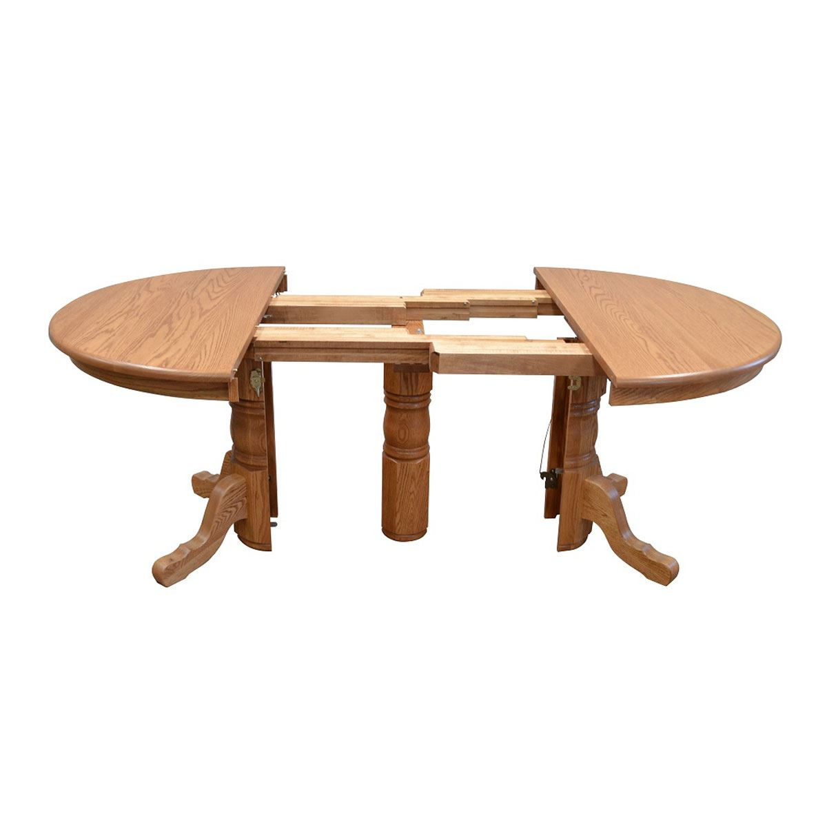 Woodbridge Super Extendable Round Table King Dinettes Custom Dining Furni