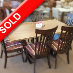 7 Piece Live Edge Dining Set
