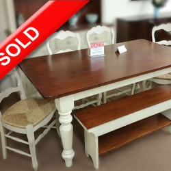 6 Piece Solid Pine Country Dining Set