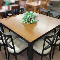 Large Square 9 Piece Dining Set