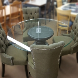 5 Piece Round Parsons Dining Set