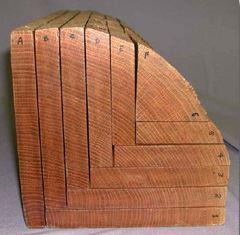 Quarter Sawn Oak Log