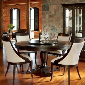 Thick Top Round Dining Set