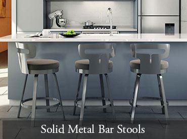 Solid Metal Bar Stools