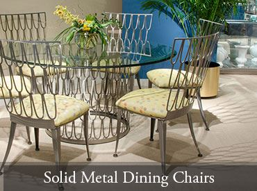 Solid Metal Dining Chairs