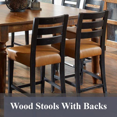 Solid Wood Bar Stools American Made Custom Furniture