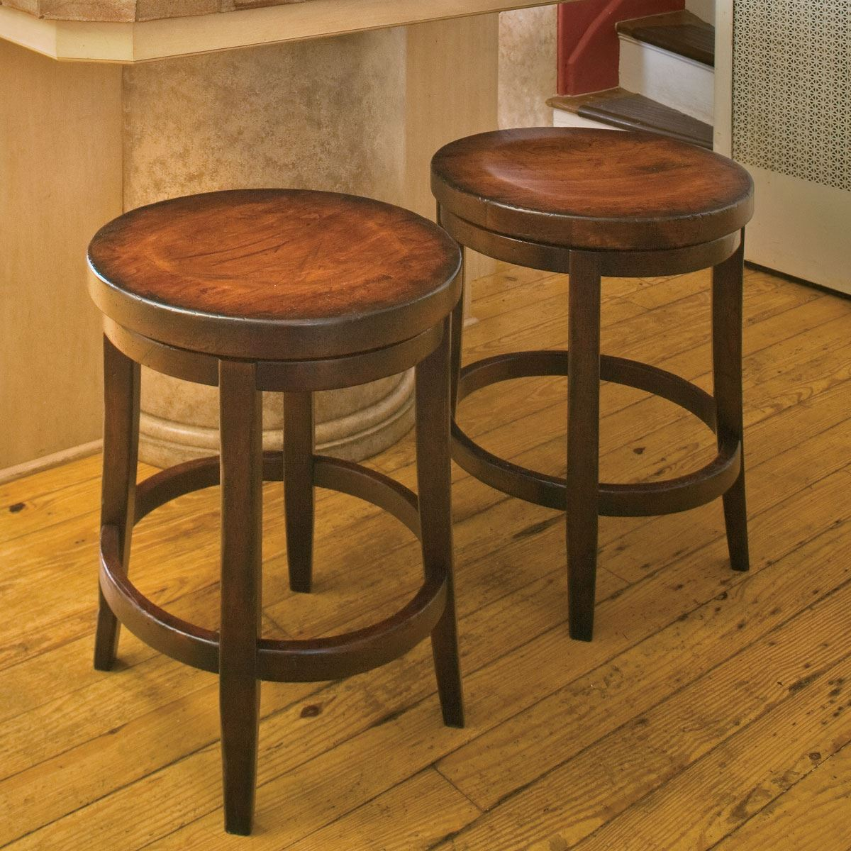 Wood Backless Stools