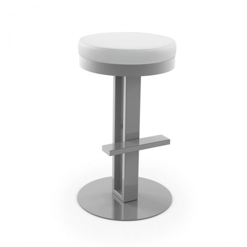 Glint Swivel Backless Stool