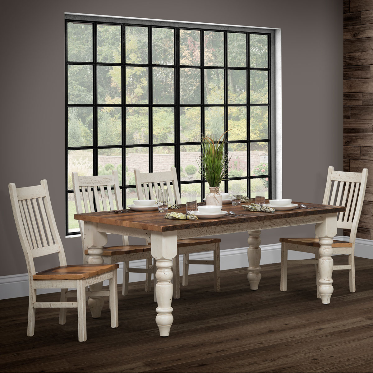 Farmhouse Dining Collection Urban Barnwood Furniture King Dinettes